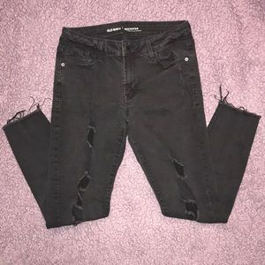 Old Navy Rockstar Mid-Rise Distressed Crop Jeans